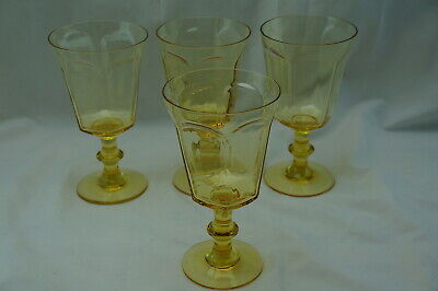 Lenox Antique Yellow (4) Water Goblets, 6 5/8