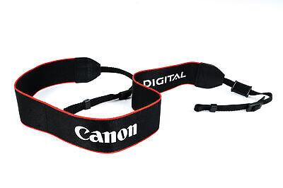 "Neck Strap 1.5"" Black/Red Edge Printed White ""Canon EOS Digital"" EX"