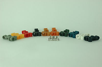 Old Face Mask Clips Suspension Football Helmet RK TK     10 Colors To Chose From