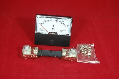 Dc 100a Analog Ammeter Panel Amp Current Meter Dc 0-100a 6070mm With Shunt