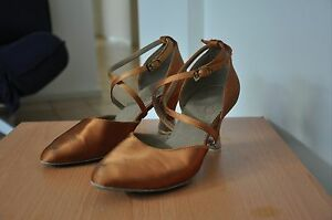Size 7 Tan Satin Ballroom Dance Heels Mayfield West Newcastle Area Preview