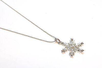 EVER FAITH® Elegant Schneeflocke Blume Party Halskette Anhänger 17-JZ4381/882