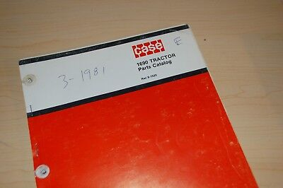 Case Ih 1690 Tractor Parts Manual Book Catalog List Farm Spare Guide 8-1520 1981