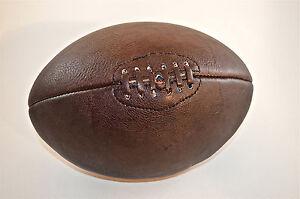 fantastique fait main en cuir marron vintage style ballon de rugby ind ebay. Black Bedroom Furniture Sets. Home Design Ideas