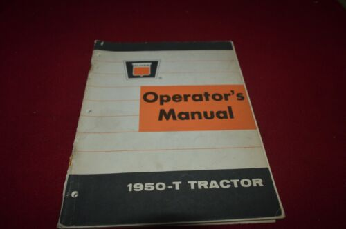 Oliver 1950-T Tractor Operator