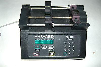 Harvard Phd2000 Syringe Pump Phd 2000 Digital Control Programmable Dual 70-2000