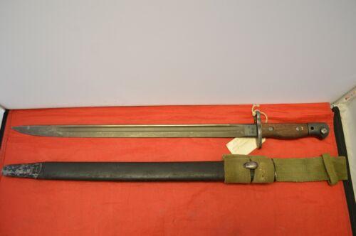 Vintage British 1907 Bayonet Sword with Scabbard ~ Wilkinson