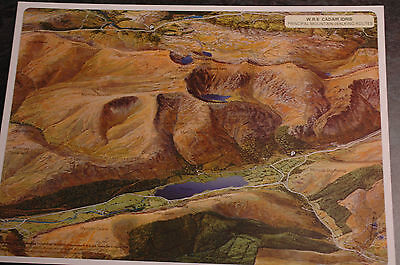 3D Aerial Panoramic A4 Fell Walking Map of Cadair Idris No8 Unusual Gift Idea