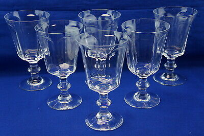 Lenox Antique Clear (7) Water Goblets, 6 3/4