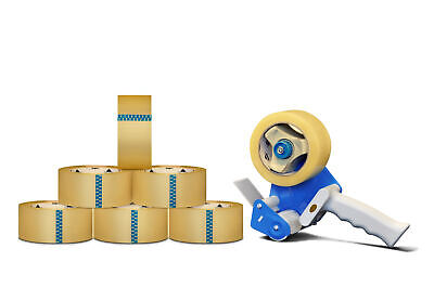 24 Rolls 3 x 110 Yds Clear Box Packing Tape 1.6 Mil+1 Free 3