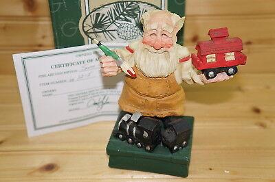 David Frykman DF1215 Santa Crafted-Santa Holding Caboose