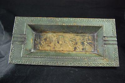 Vintage Japanese Nambu Tekki Cast Iron signed tray
