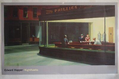 Edward Hopper : Nighthawks   Riesenplakat / Kunstdruck NEU  100 x 161 cm