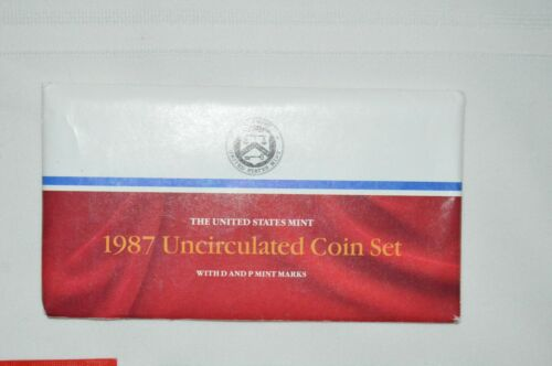 1987 P D United States Mint Uncirculated (10 Coins + 2 TOKENS) - Complete Set