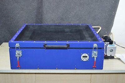 Used Uv Vacuum Exposure Unit Silk Screen Printing Pcb Maker 110v Compressor
