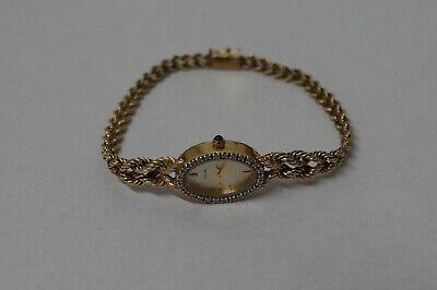 (CO)Yellow Gold Jewelry Diamond Citizens Wrist Watch Rope Chain Band