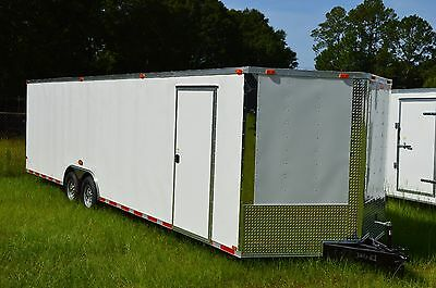 8.5x28 Enclosed Trailer Cargo 5200 V Nose 30 Car Hauler 8 Motorcycle 2017 Call