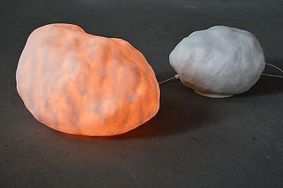 HEICO Dekostein Stein 80er True Vintage Leuchtstein 80s Lampe Dekoration Leuchte
