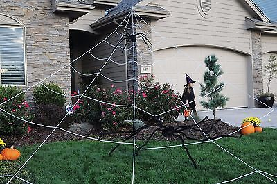 Giant Mega Spider Web Outdoor Yard Halloween Decoration