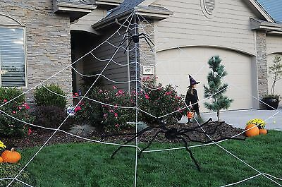 Giant Mega Spider Web Outdoor Yard Halloween Decoration](Giant Spider Web Decoration Halloween)