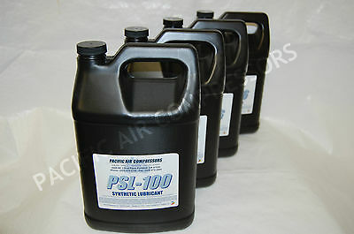 4 Pk 1 Gallon Psl-100 Full Synthetic Reciprocating Air Compressor Lubricant Oil