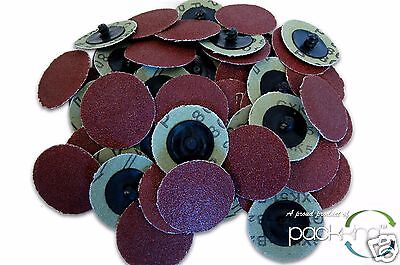 """50 PC 2"""" Inch 80 Grit Type R Sanding Abrasive Roll Lock Discs Wheels NEW! for sale  Shipping to India"""