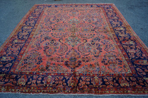 Antique  Persian From Iran Sarouk Mohajeran  Rug 10x12ft  Cir 1900