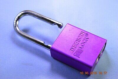American Lock A1106prp Ka Series Padlock Solid Alum. Body 14 Hardened Shackle
