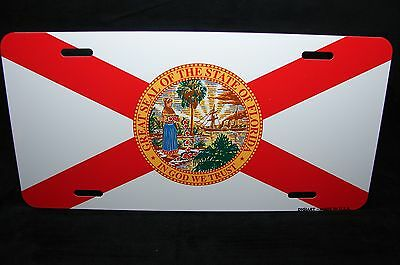 FLORIDA STATE FLAG METAL ALUMINUM CAR LICENSE PLATE (State Metal License Plate)