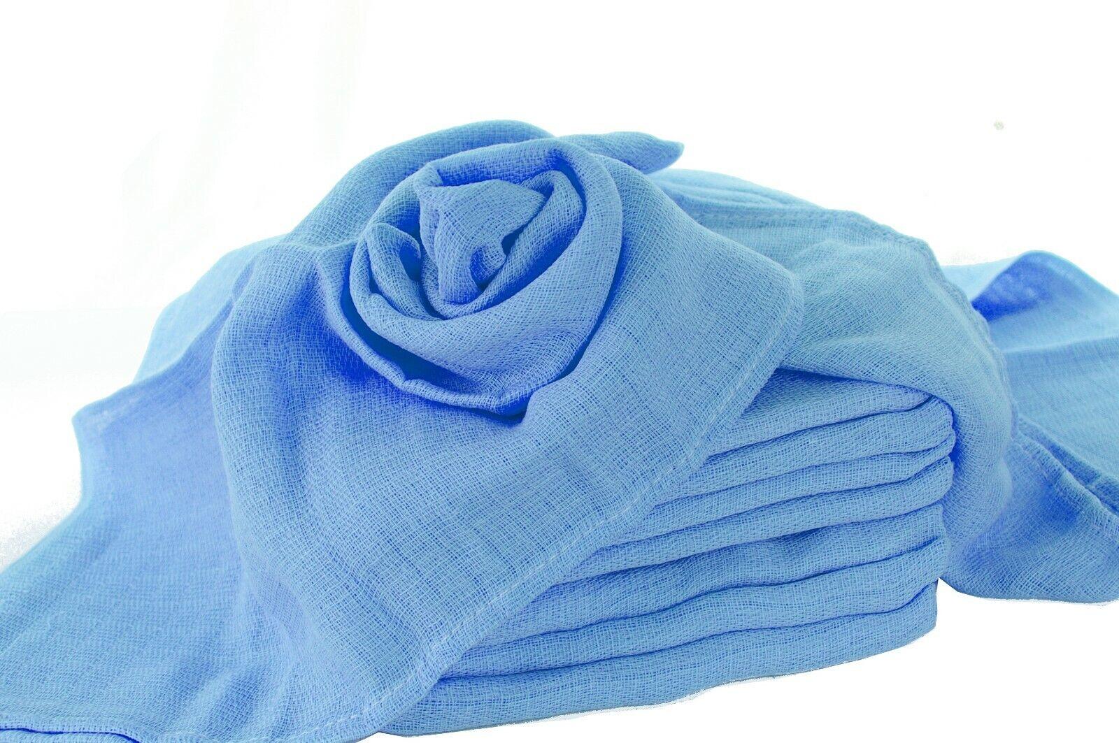 Mullwindeln blau kochfest Spucktücher Mulltücher Mulltuch Spucktuch