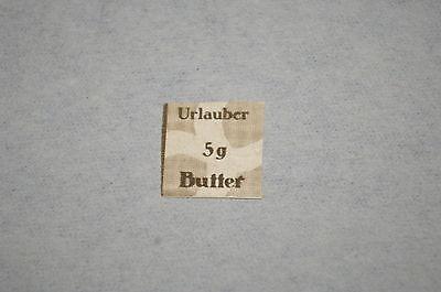 Deutsches Reich Lebensmittelmarke geschnitten *5 g Urlauber-Butter*    3. Reich