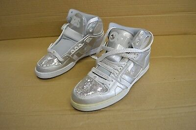Osiris Women's NYC 83 SLM Silver / White/ Gray Hightop Shoes 21921904 Display ()