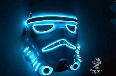 StormTrooper Star Wars The Last Jedi Halloween Costume Rave Party Neon BLUE Mask - Halloween Party Star