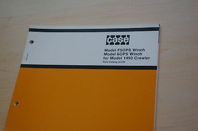 Case 1450 Tractor Dozer Crawler F5ops 6ops Winch Parts Manual Spare Book Catalog