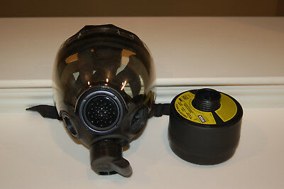 Msa Millennium Gas Mask Respirator W Drink Tube Cbrn 40mm Nato Large