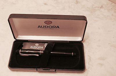 Aurora Ipsilon Black Resin Rollerball Pen, Gold Trim, In Box