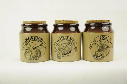 Pearsons of Chesterfield England Stoneware Sugar Coffee and Tea