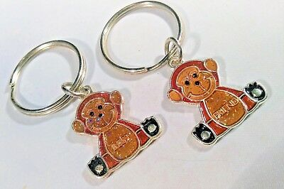 Set 2 Monkey Best Friends Couple Keychains Glittery Sparkly Ape Chimp Chimpanzee