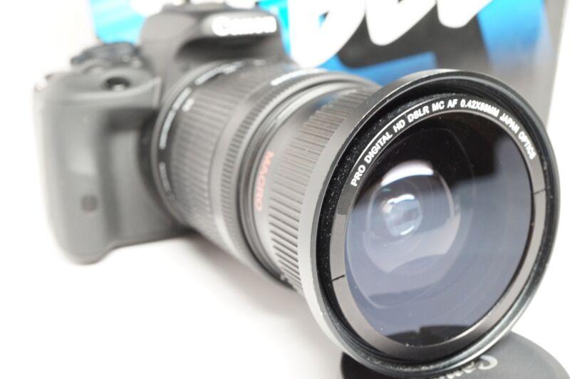 Ultra Wide Angle Macro Fisheye Lens for Canon Eos Digital Rebel 18-135mm IS STM