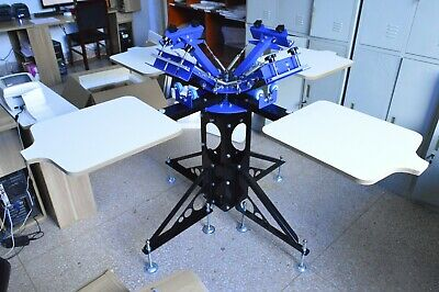 4 Color 4 Station Screen Printing Machine Rotary Press Shirt Printer