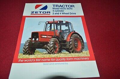 Zetor 8520 8540 Tractor Dealers Brochure CDIL na sprzedaż  Wysyłka do Poland