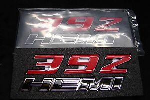 (2) 392 HEMI  EMBLEMS DECALS  FOR DODGE CHALLENGER 300C RAM SRT 6.4L US SELLER