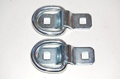 2x Anhänger Spannbügel Verzurrösen Zurrösen Zurrbügel Spanngurte D-Ring Ø5mm