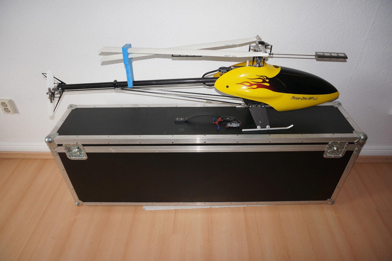 RC Heli Henseleit Three Dee MP XL-E komplett mit Koffer !