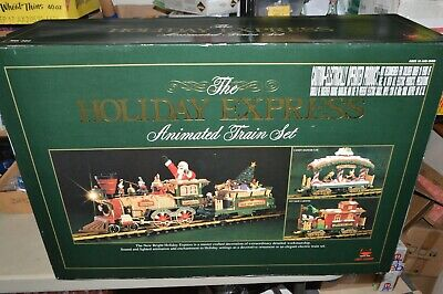 G scale New Bright Holiday Christmas train set Animated Lighted Sounds