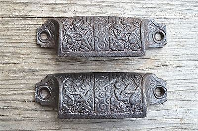 A antique label frame cast iron drawer pull furniture handles AL16