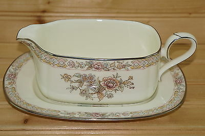 Noritake Imperial Garden 9720 Gravy Boat   Underplate 7 7 8  X 5   Butter Relish