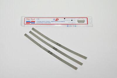 Set X 60 Strips Dental Ortho Ss Metal Polishing Single Sided 6mm 12 Per Box
