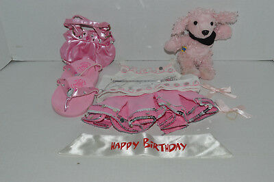 Build A Bear Clothing~Baby Poodle~Skirt~Shirt~Happy Birthday Sash~Wand~Shoes~L8 - Poodle Skirt Shoes