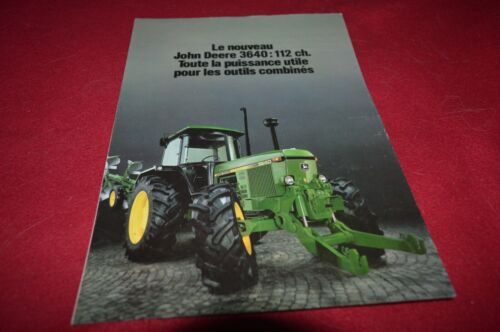 John Deere 3640 Tractor in French Brochure FCCA